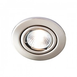 Robus Sally 50W Adjustable GU10 Downlight with Brushed Chrome Bezel