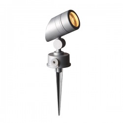 Robus Cork 50W Satin Silver Outdoor GU10 Spike Light