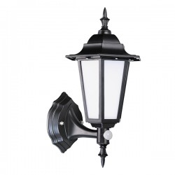 Robus Dingle 7W 4000K Black LED Lantern with PIR Sensor