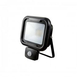 Robus Remy 30W 4000K Black LED Floodlight with PIR Sensor