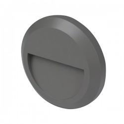 Robus Twilight 1W 3000K Circular Outdoor LED Wall Light - Eyelid