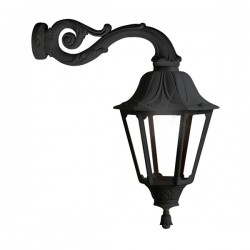 Fumagalli Noemi Adam Black E27 Lantern with Clear Diffuser