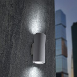 Fumagalli Franca 90-2L 2x3.5W 3000K Grey Up/Down LED Wall Light