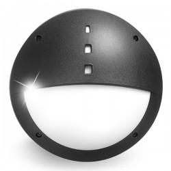 Fumagalli Gelmi-El 9W 4000K Black LED Bulkhead with Microwave Sensor