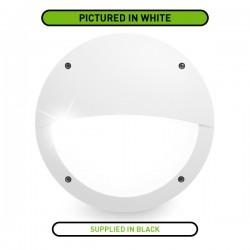 Fumagalli Lucia-EL 9W 4000K Black LED Bulkhead with Microwave Sensor