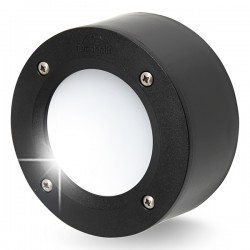 Fumagalli Extraleti 100 Round 3W 4000K Black LED Brick Light