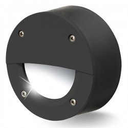 Fumagalli Extraleti 100 Round-El 3W 4000K Black LED Brick Light