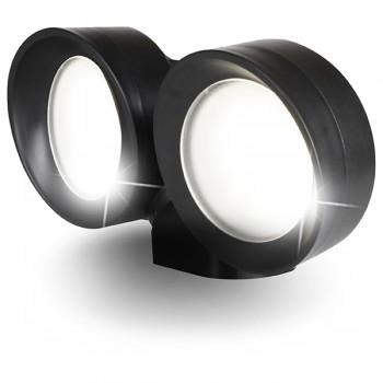 Fumagalli Tommy-EL Twin 2x7W 3000K Black LED Wall Light
