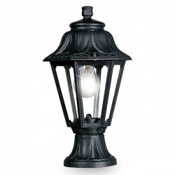 Fumagalli Anna Mikrolot 6W 2700K Black LED Pedestal Lantern