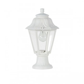 Fumagalli Anna Mikrolot 6W 2700K White LED Pedestal Lantern