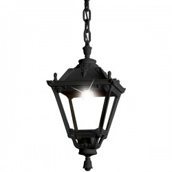 Fumagalli Tobia Sichem 30W 3000K Black LED Pendant with Clear Diffuser