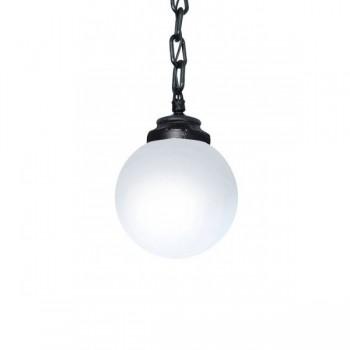 Fumagalli Globe 250 Sichem 6W 2700K Black LED Pendant with Opal Diffuser
