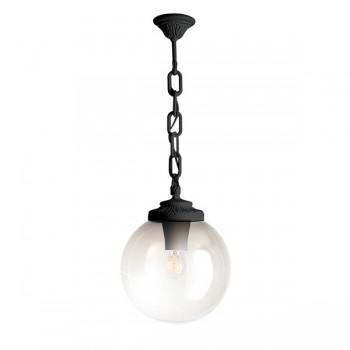 Fumagalli Globe 300 Sichem Black E27 Pendant with Clear Diffuser