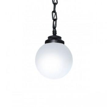 Fumagalli Globe 300 Sichem 8W 2700K Black LED Pendant with Opal Diffuser
