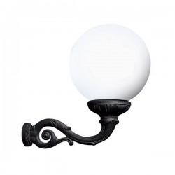 Fumagalli Globe 400 Adam 12W 2700K Black LED Wall Light with Opal Diffuser