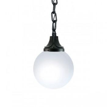 Fumagalli Globe 400 Sichem 12W 2700K Black LED Pendant with Opal Diffuser