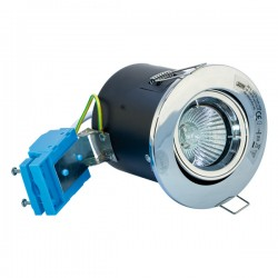 Selectric Die-Cast Steel 50W Adjustable GU10 Downlight with Polished Chrome Bezel