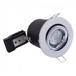 Selectric PushGlo Die-Cast Steel 50W Adjustable GU10 Downlight with Polished Chrome Bezel