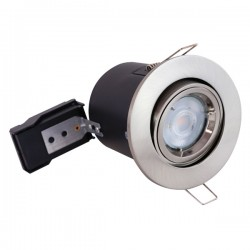 Selectric PushGlo Die-Cast Steel 50W Adjustable GU10 Downlight with Satin Chrome Bezel