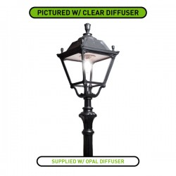 Fumagalli Elia Tabor 56W 4000K Black LED Lamp Post with Opal Diffuser