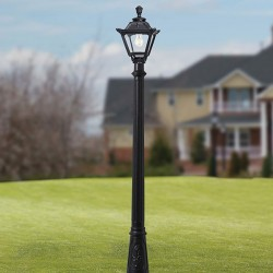 Fumagalli Golia Artu 6W 2700K Black LED Lamp Post