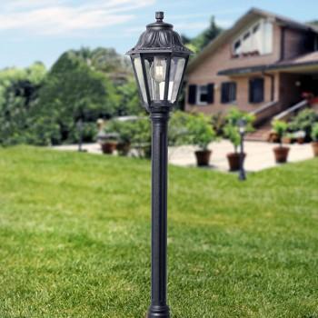 Fumagalli Anna Mizar 6W 2700K Black LED Lamp Post
