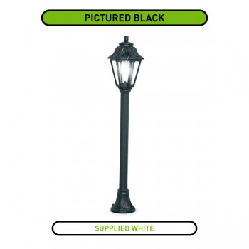 Fumagalli Anna Mizar 6W 2700K White LED Lamp Post