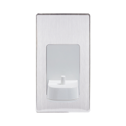 ProofVision Brushed Steel In-Wall Electric Toothbrush Charger