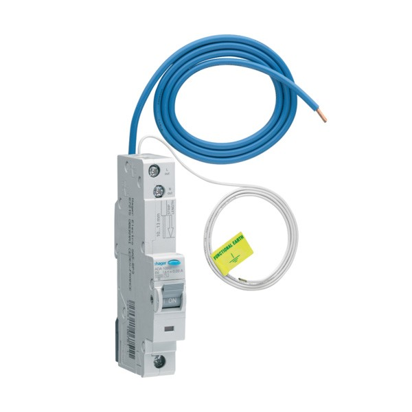 Hager ADA306G 6a 30ma B Curve RCBO Type B