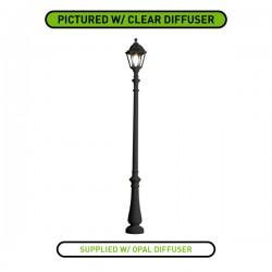 Fumagalli Noemi Nebo 21W 4000K Black LED Lamp Post with Opal Diffuser