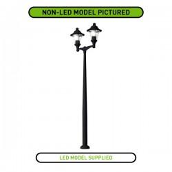 Fumagalli Remo 400 Akille 3500 Twin 2x60W 4000K Black LED Lamp Post