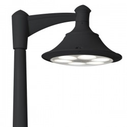 Fumagalli Ecovivi 400 Akille 3500 60W 4000K Black LED Lamp Post