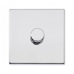 Hamilton Hartland G2 Bright Chrome 1 Gang 400W 2 Way Push On/Off Dimmer