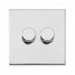 Hamilton Hartland G2 Bright Chrome 2 Gang 100W 2 Way LEDIT-B100 Dimmer