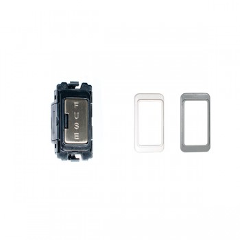 Eurolite Enhance Satin Stainless Steel Fuse Unit Module with Black, White, and Grey Inserts