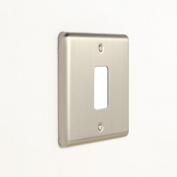 Eurolite Enhance Satin Stainless Steel 1 Gang Grid Faceplate