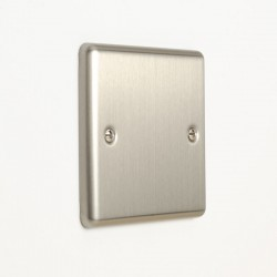 Eurolite Enhance Satin Stainless Steel 1 Gang Blank Plate