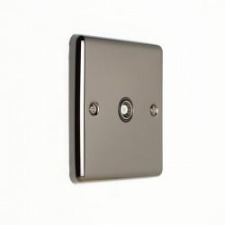 Eurolite Enhance Black Nickel 1 Gang TV Coaxial Socket with Black Insert