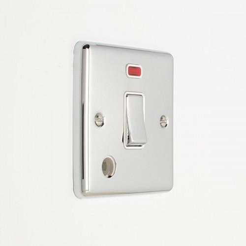 Click 1 Gang 20a DP Metal Clad Switch Neon//Flex Outlet