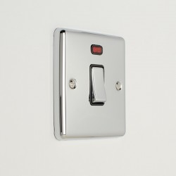 Eurolite Enhance Polished Chrome 1 Gang 20A DP Switch with Neon and Black Insert