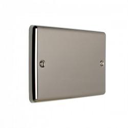 Eurolite Enhance Black Nickel 2 Gang Blank Plate