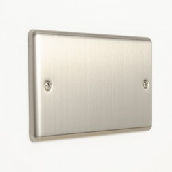 Eurolite Enhance Satin Stainless Steel 2 Gang Blank Plate