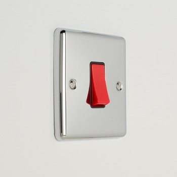 Eurolite Enhance Polished Chrome 45A DP Cooker Switch with Black Insert