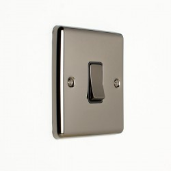 Eurolite Enhance Black Nickel 1 Gang 10A Intermediate Switch with Black Insert