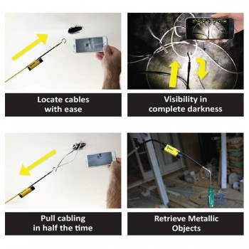 Super Rod Ferret WiFi Multi-Purpose Wireless Inspection Camera and Cable Pulling Tool