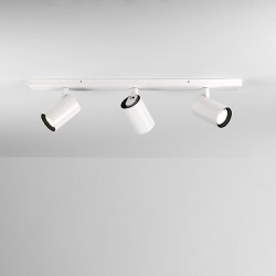 Astro Aqua Triple Bar Matt White Bathroom Spotlight