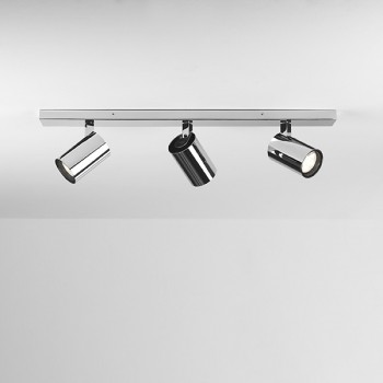 Astro Aqua Triple Bar Polished Chrome Bathroom Spotlight