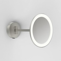 Astro Mascali Round Matt Nickel LED Bathroom Mirror Light