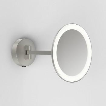 Astro Mascali Round Matt Nickel LED Bathroom Mirror Light