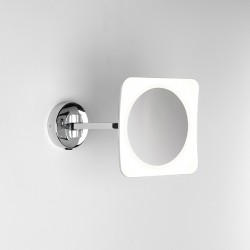 Astro Mascali Square Polished Chrome LED Bathroom Mirror Light